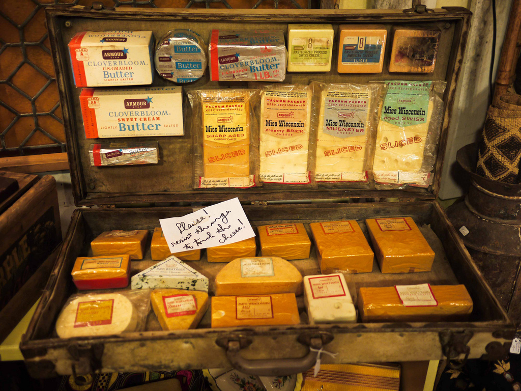 cheese samples in a suitcase by sashafatcat, on Flickr