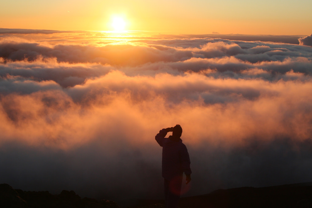 Standing over the clouds by ewen and donabel, on Flickr