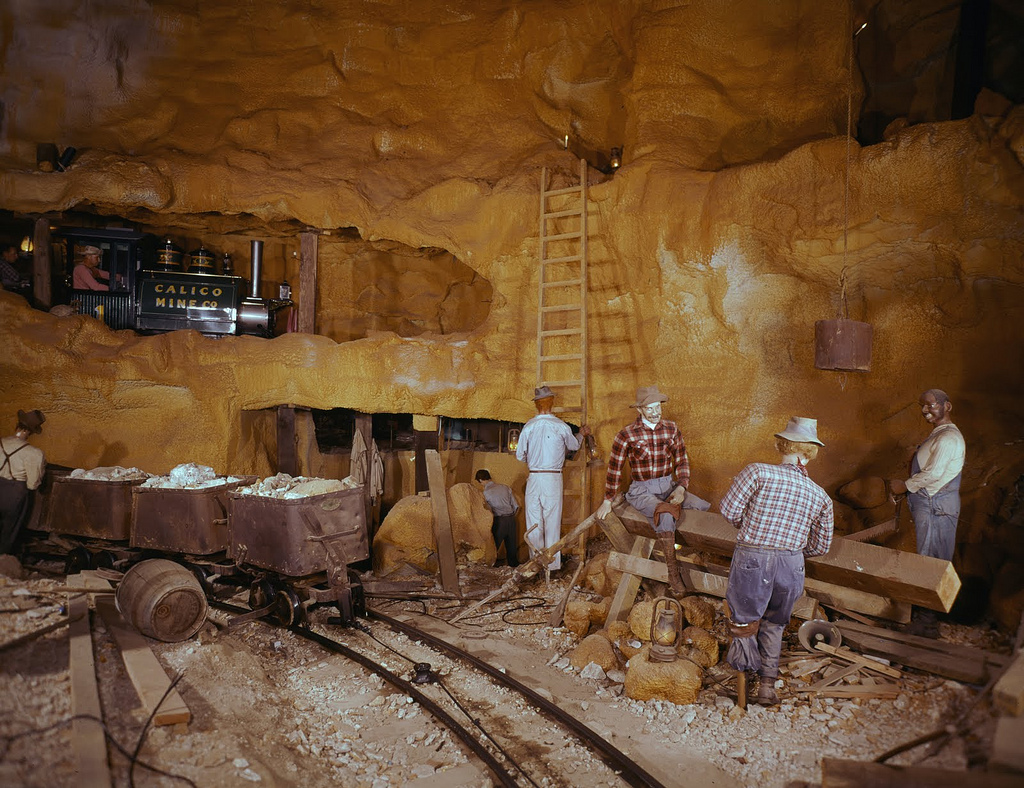 Calico Mine Ride, Knott's Berry Farm, ci by Orange County Archives, on Flickr