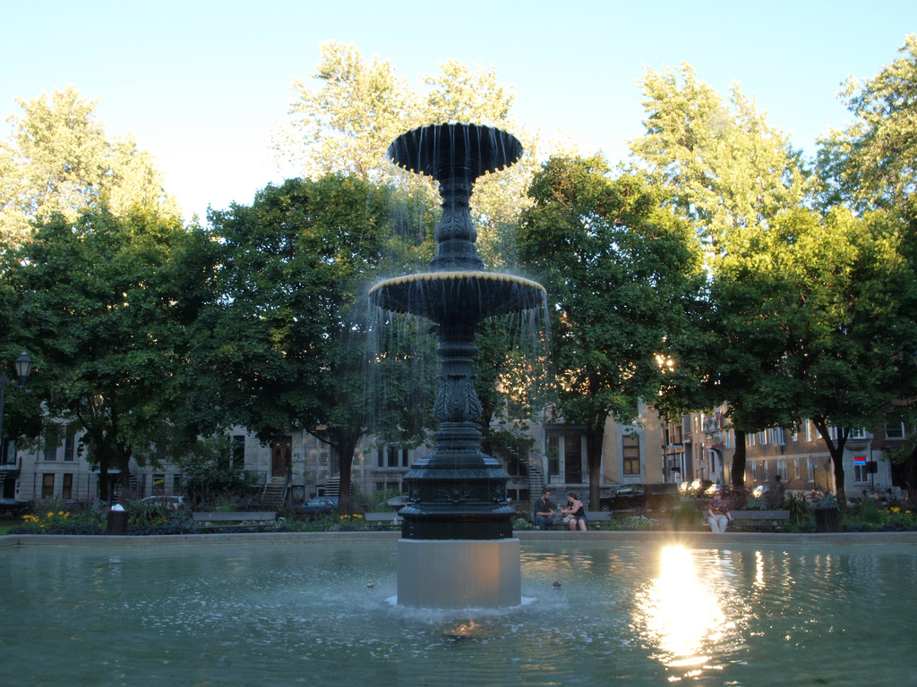 Fountain in square St-Louis, Montreal by manumilou, on Flickr