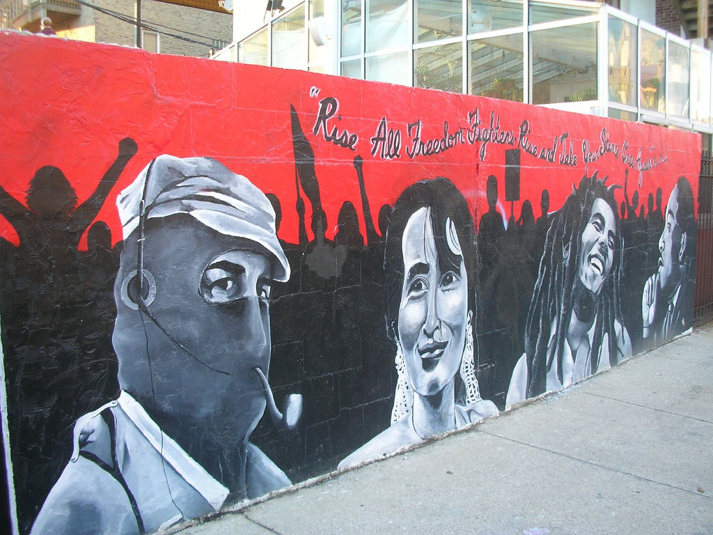 Freedom Fighters Mural in Wicker Park by puroticorico, on Flickr