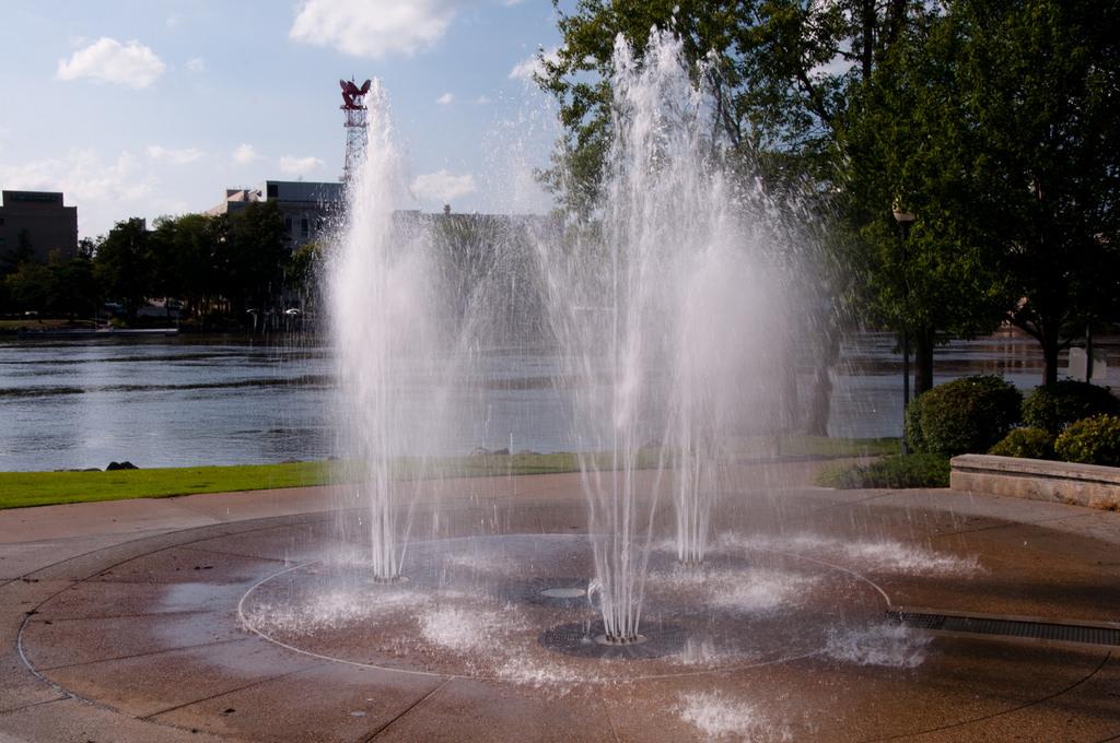 Millenium Fountain in Rockford, Illinois by vxla, on Flickr