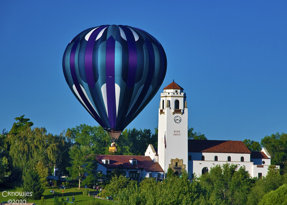 Boise Train Depot and Hot Air Balloon by The Knowles Gallery, on Flickr