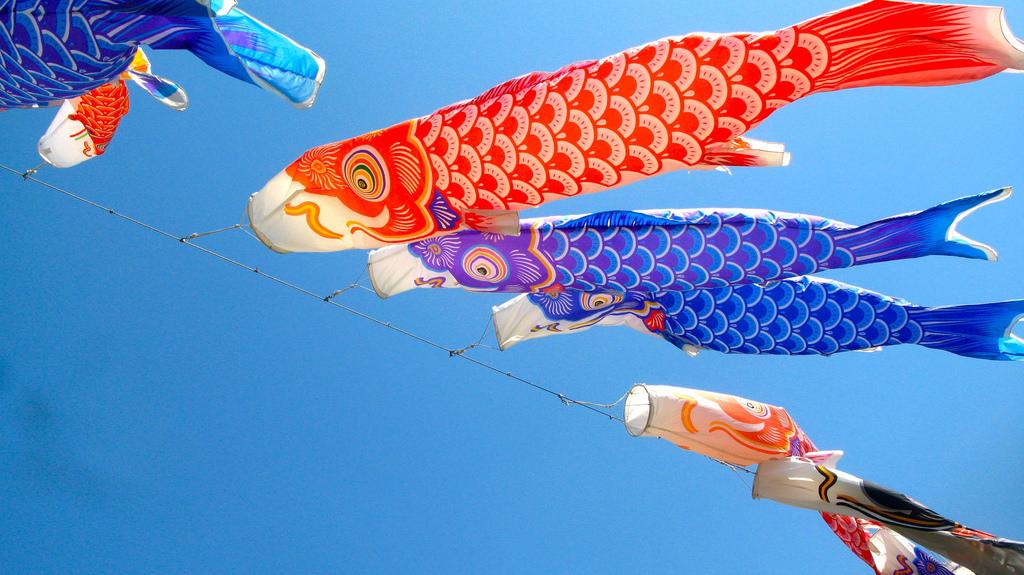 Carp (Koi) Windsocks by rumpleteaser, on Flickr