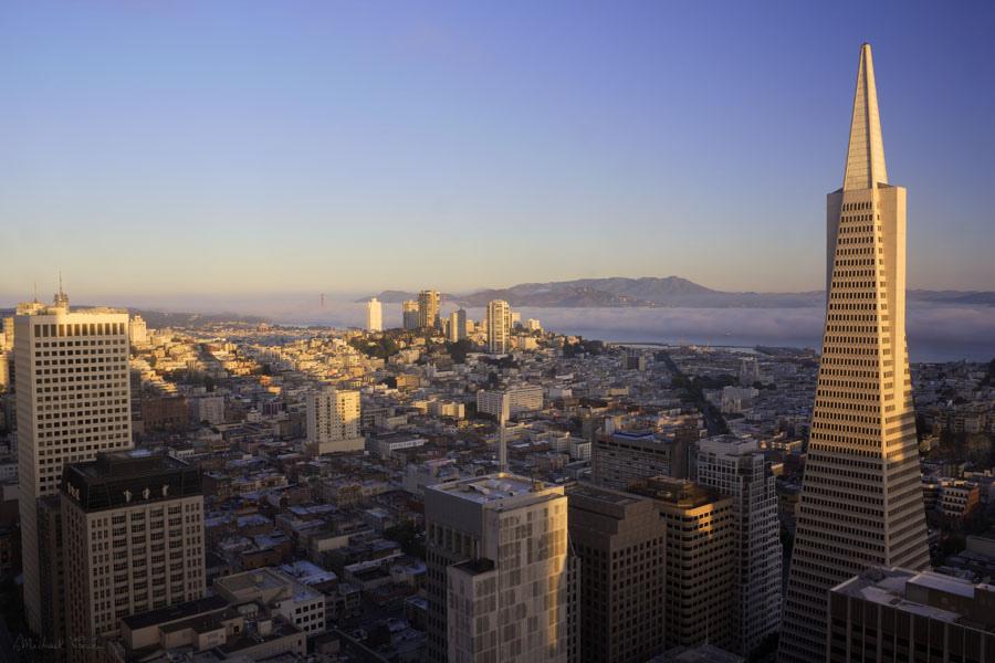 San Francisco sunrise by Michael Cavén, on Flickr