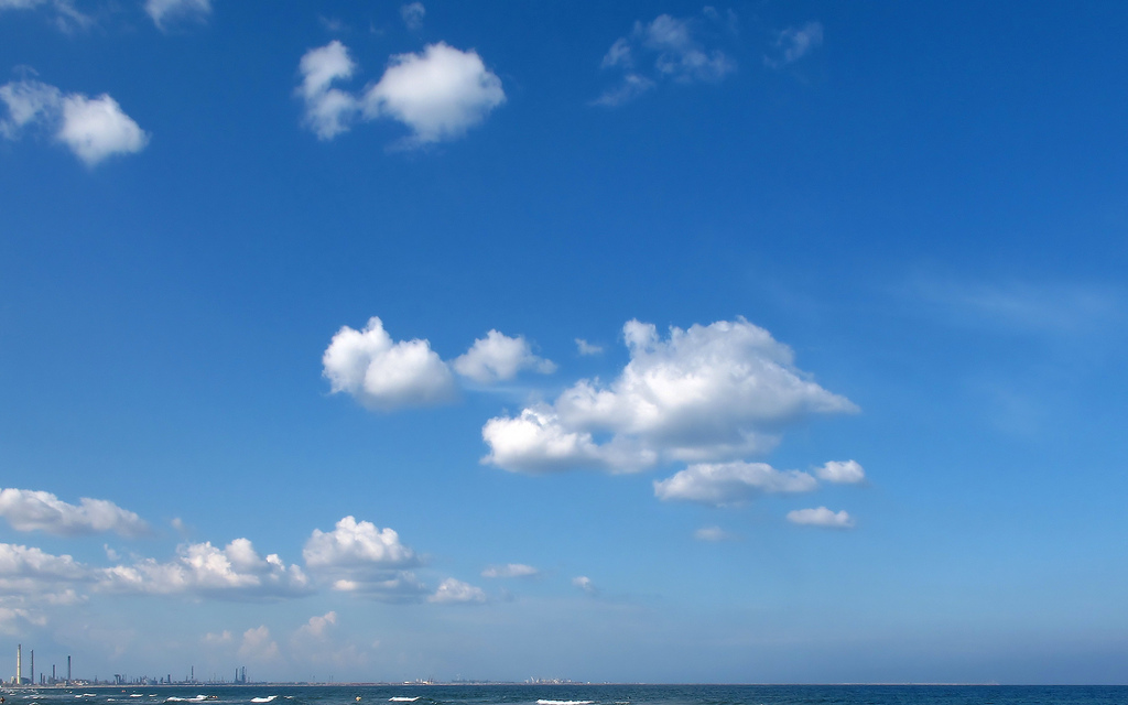 Blue Sky with Clouds Wallpaper by Alex Panoiu, on Flickr