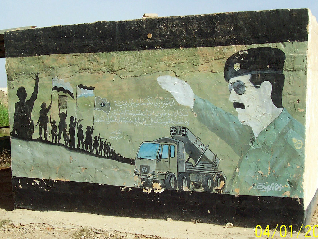 Public Domain: Saddam Hussein Mural by J by pingnews.com, on Flickr