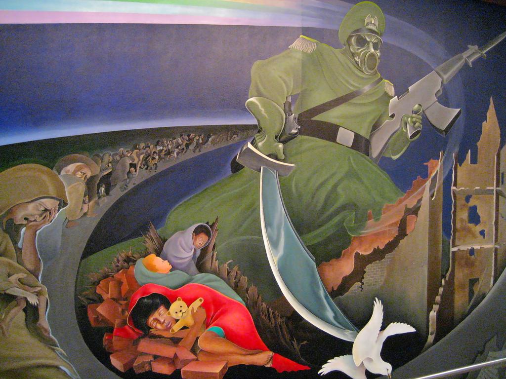Denver International Airport mural by dmountain.com, on Flickr