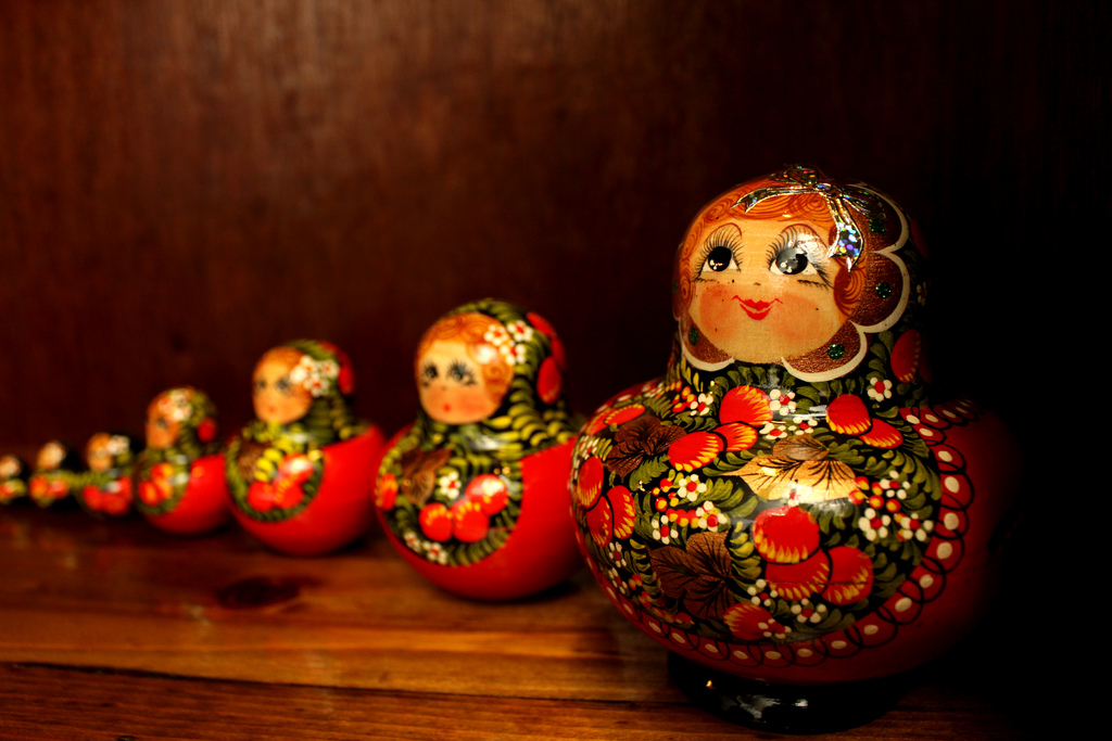 Matryoshka dolls from Eastern Europe, in by Crossroads Foundation Photos, on Flickr