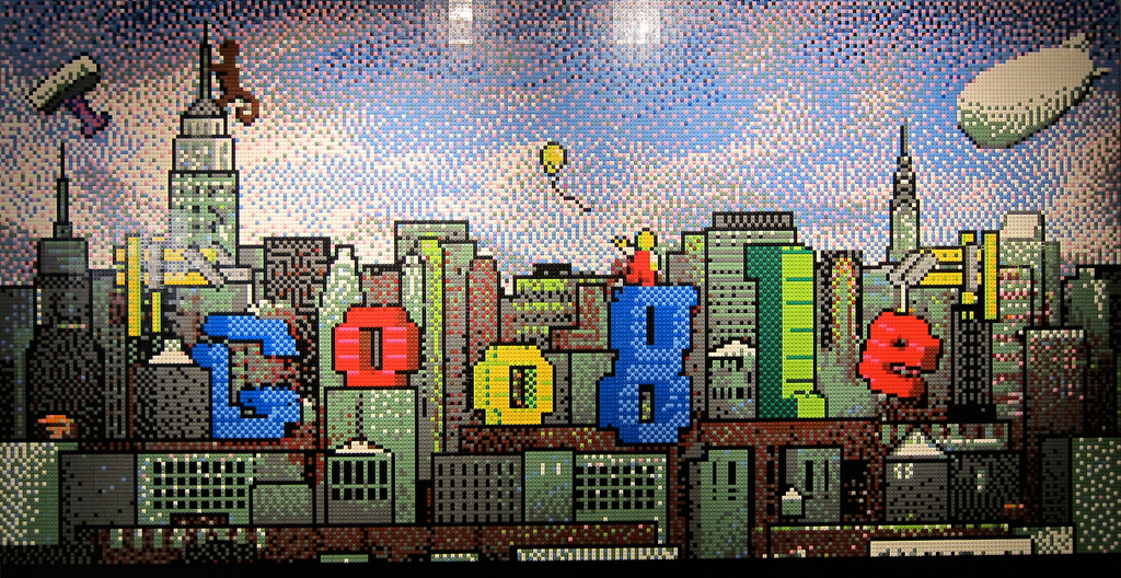 Lego mural at Google NYC by surrealpenguin, on Flickr