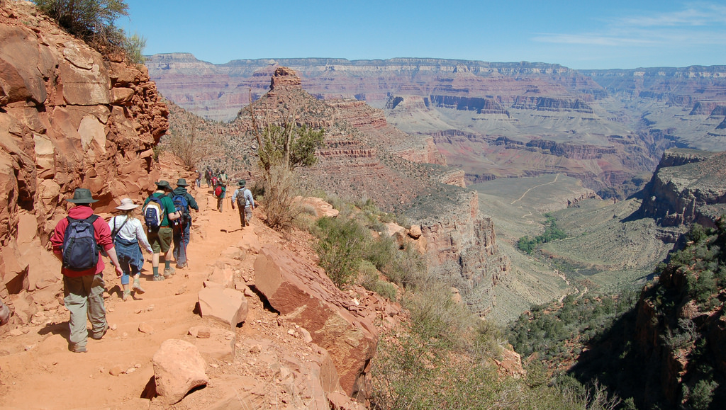 Grand Canyon NP Bright Angel Trail Group by Grand Canyon NPS, on Flickr
