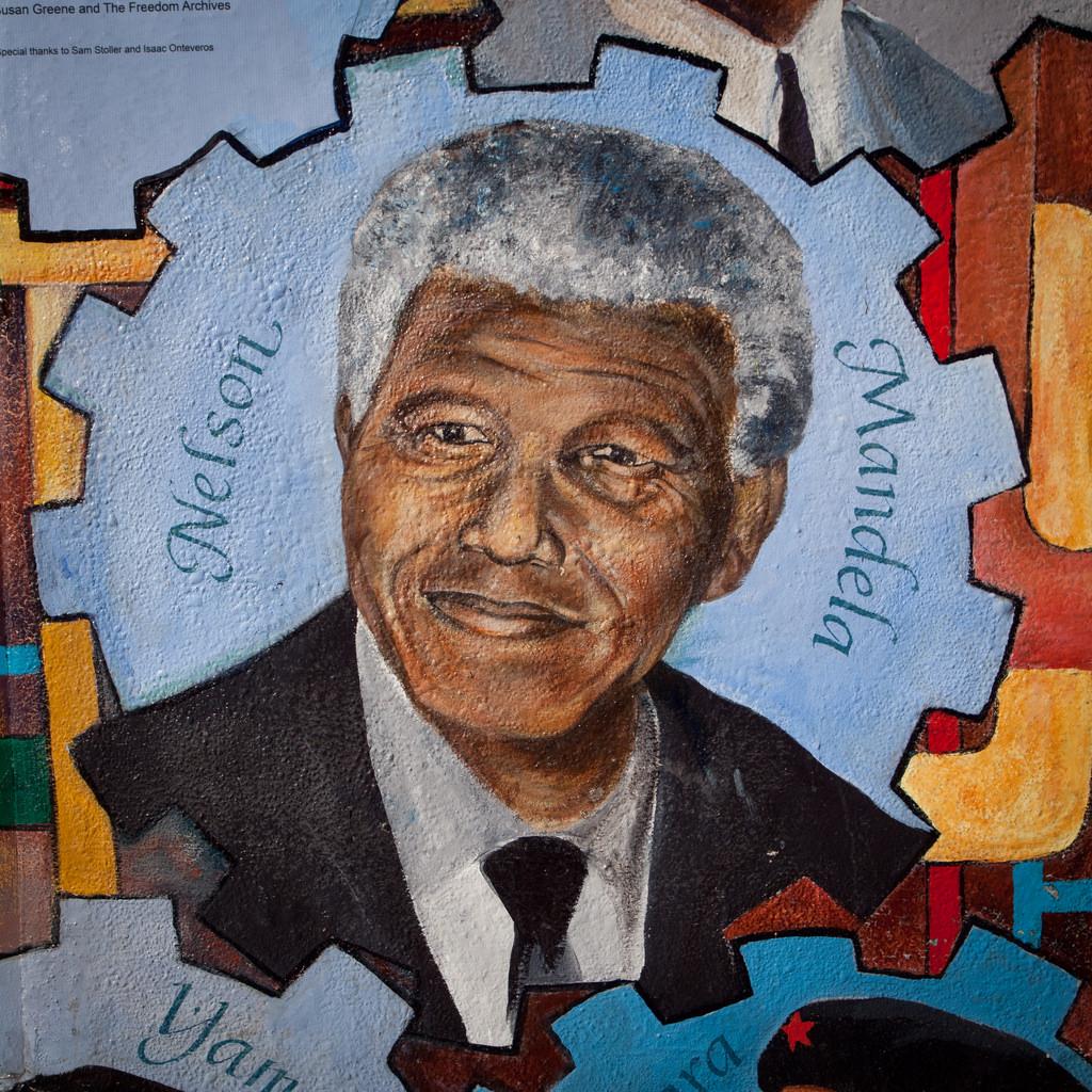 Nelson Mandela (mural) by Franco Folini, on Flickr