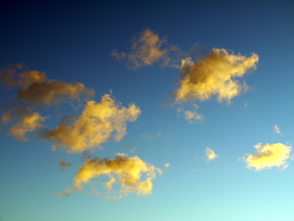 Yellow Clouds, Blue Sky by Yortw, on Flickr