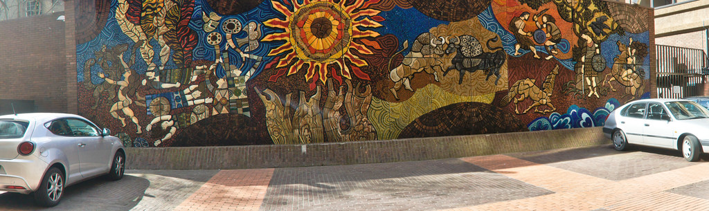 Desmond Kinney's 1974 mosaic mural off by infomatique, on Flickr