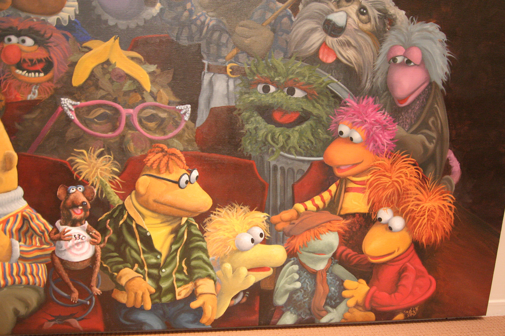Fraggles   Muppets Mural   Jim Henson St by JeffChristiansen, on Flickr