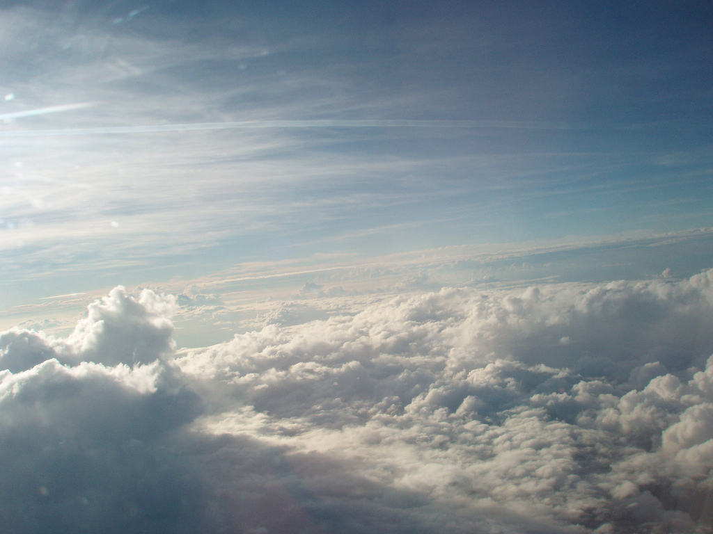 Cloud layers: Stratus clouds (above), cu by VMFoliaki, on Flickr