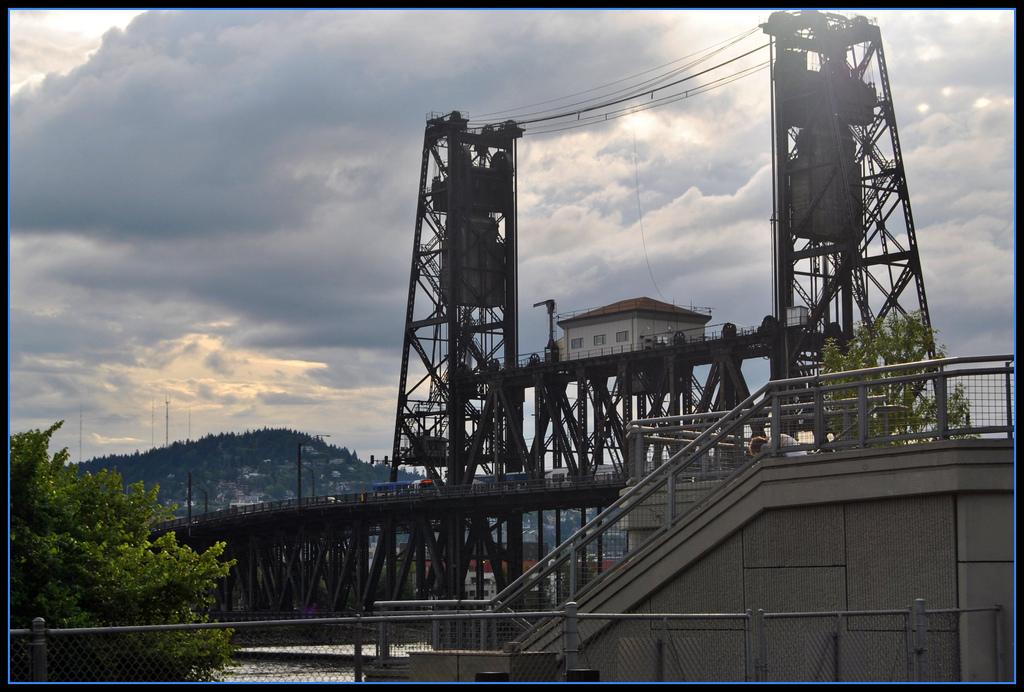 Double lift bridge across Willamette Riv by Loco Steve, on Flickr