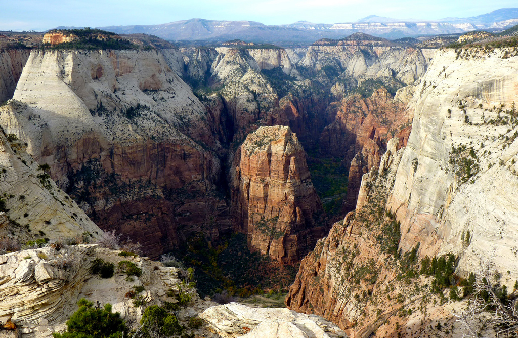 Angels Landing from the Deertrap Mountai by ZionNPS, on Flickr
