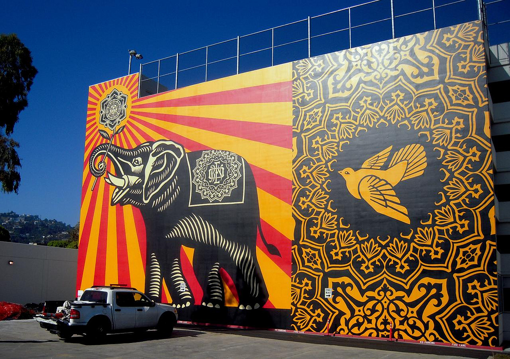 obey peace mural (it's pretty damn big) by Rob React, on Flickr