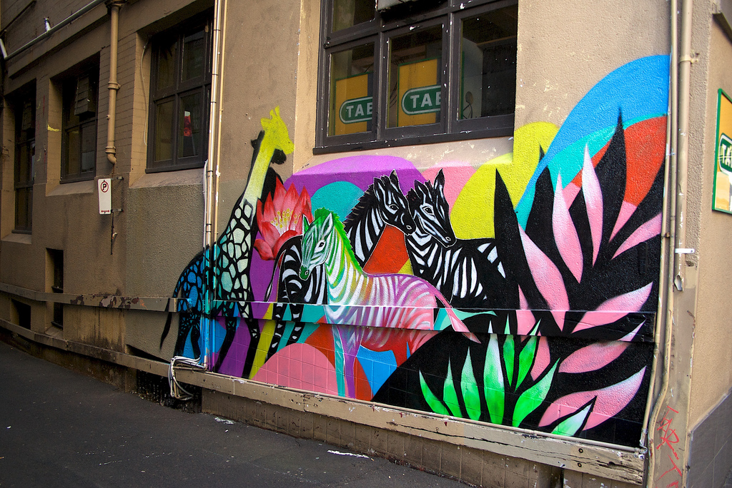 IMGP4234 Urban jungle mural by Shannon C by JAM Project, on Flickr