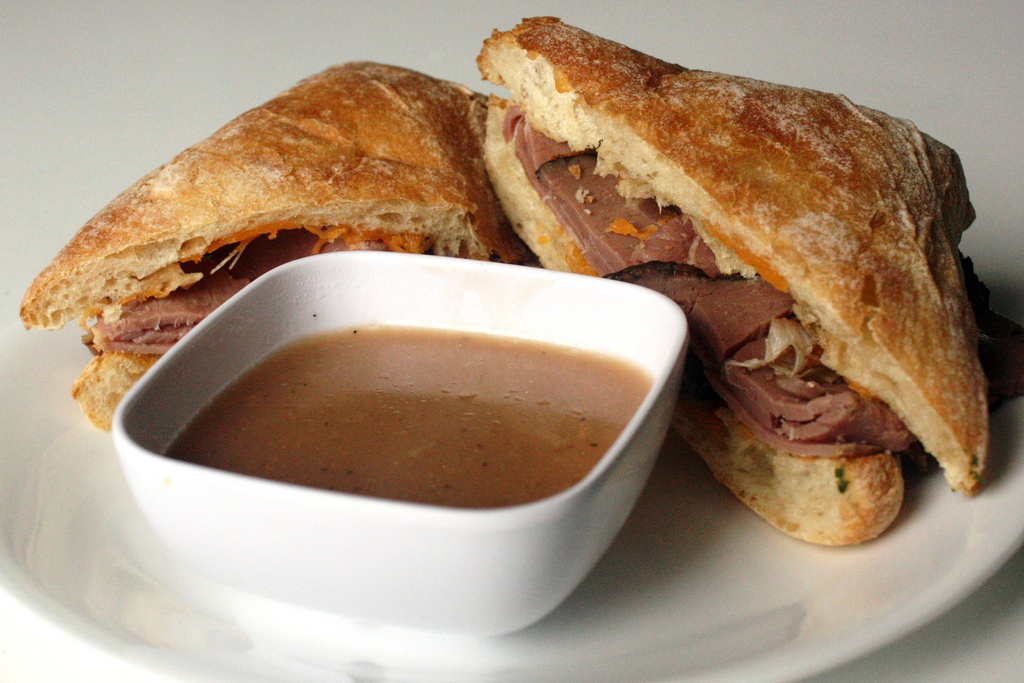 Cheddar French Dips with Simple Au Jus by alanagkelly, on Flickr
