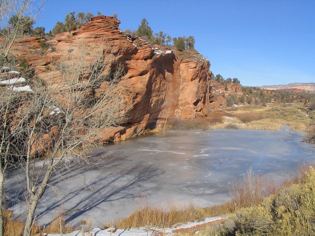 Frozen Pond on U.S. 89 near Kanab, Utah by Ken Lund, on Flickr