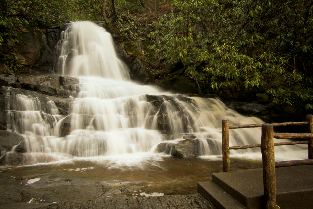 Laurel Falls, Great Smoky Mountains, TN by pulaw, on Flickr