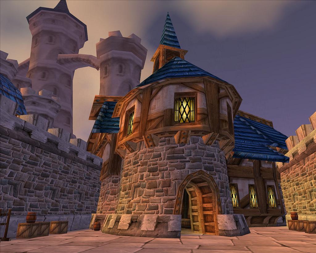 Old Stormwind, Warrior Barracks & Castle by GT