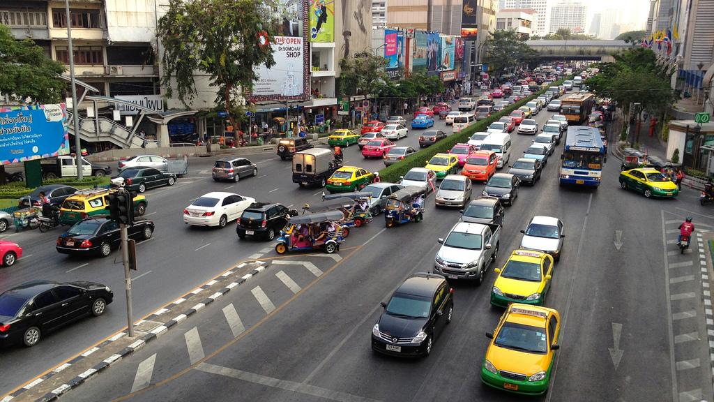 Notorious Bangkok Traffic, Thailand by David McKelvey, on Flickr