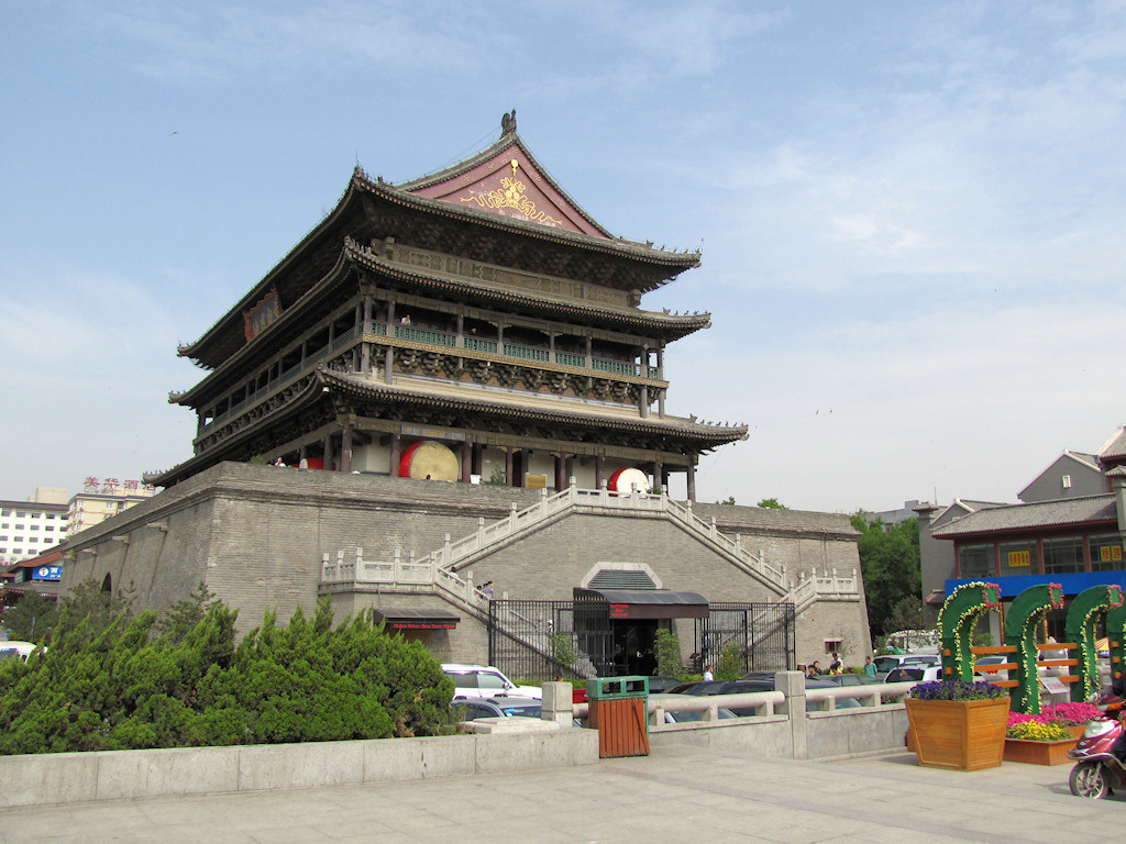 The Drum Tower, Xi'an, China (2) by wiredtourist.com, on Flickr