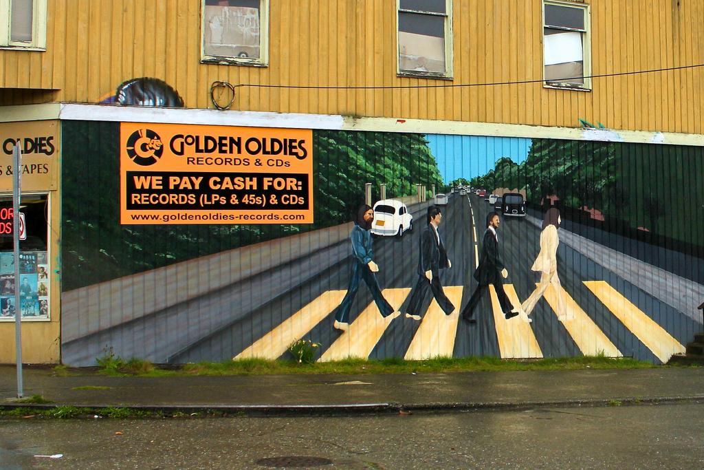Beatles' Abbey Road wall mural by Oran Viriyincy, on Flickr