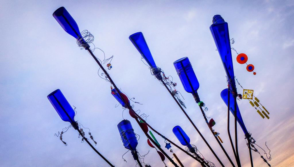 Blue Bottle Tree by Ingrid Taylar, on Flickr