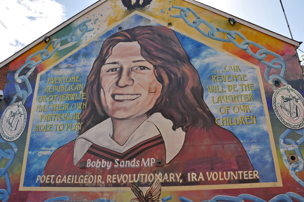 Bobby Sands mural in the Falls Road (Cat by Anosmia, on Flickr