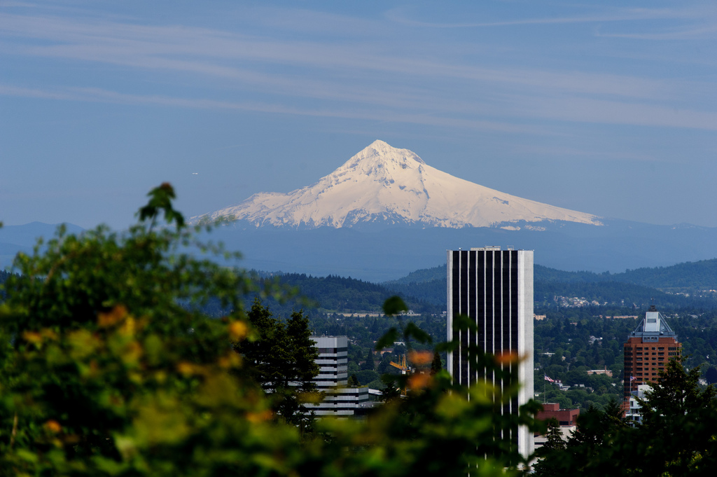 Mt Hood and City View by Eric Kilby, on Flickr