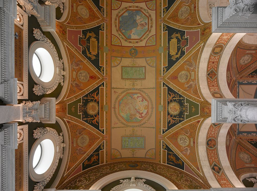[Second floor, north corridor. Mural dep by The Library of Congress, on Flickr