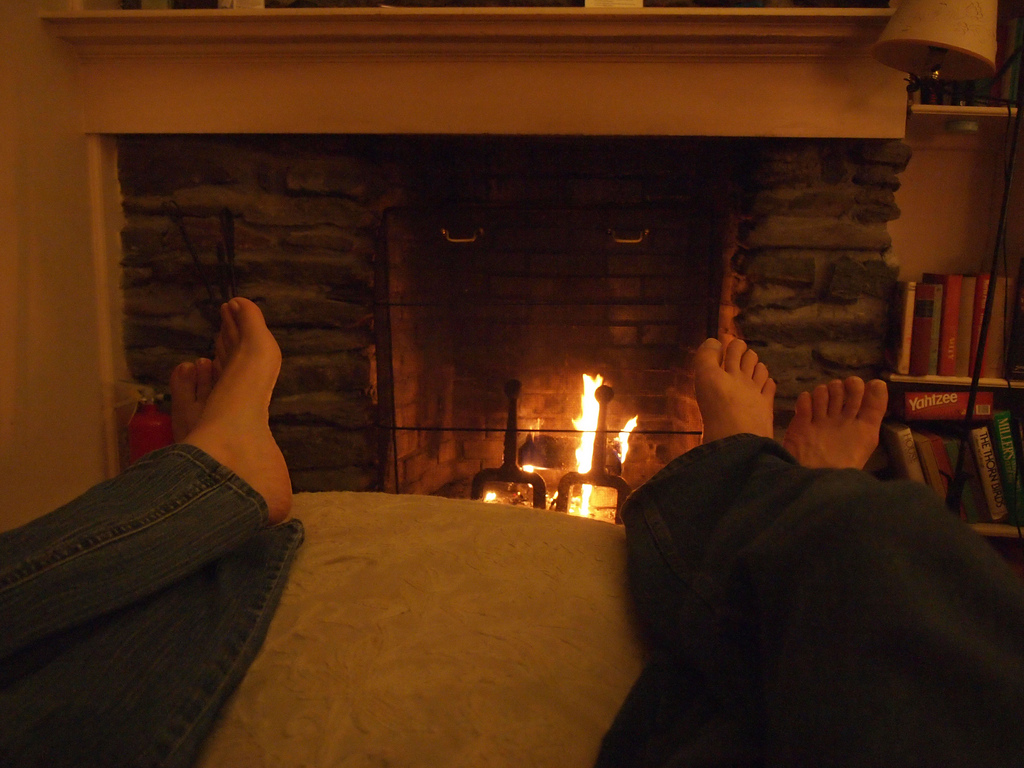 Sitting by the fireplace in the cottage by rickpilot_2000, on Flickr