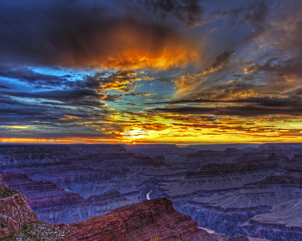 Grand Canyon Sunset Hopi Pt by toddwendy, on Flickr