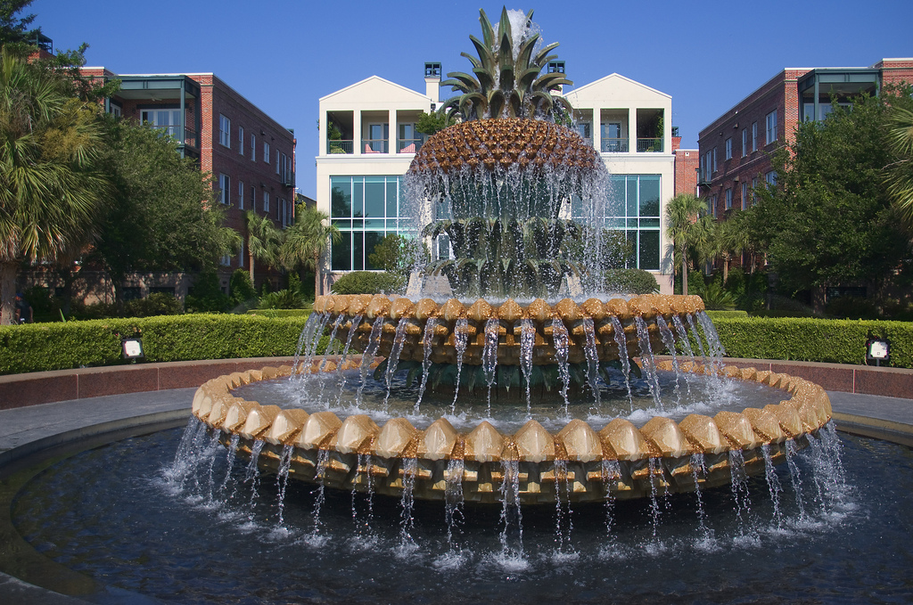 The Pineapple Fountain -- Charleston (SC by Ron Cogswell, on Flickr