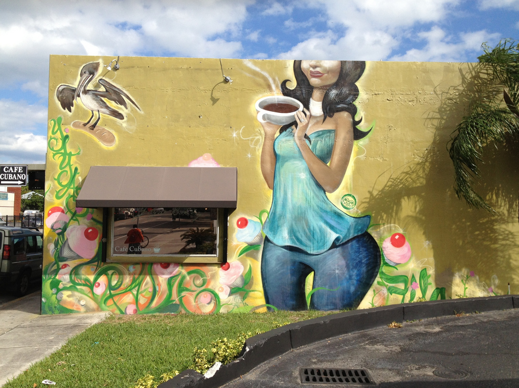 Mural On Coffee Shop by Phillip Pessar, on Flickr