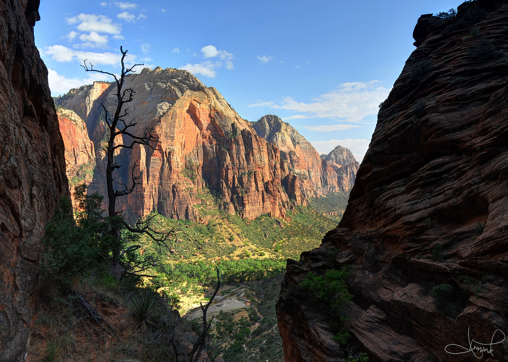 Descending Angel's Landing, Zion Nationa by tsaiproject, on Flickr