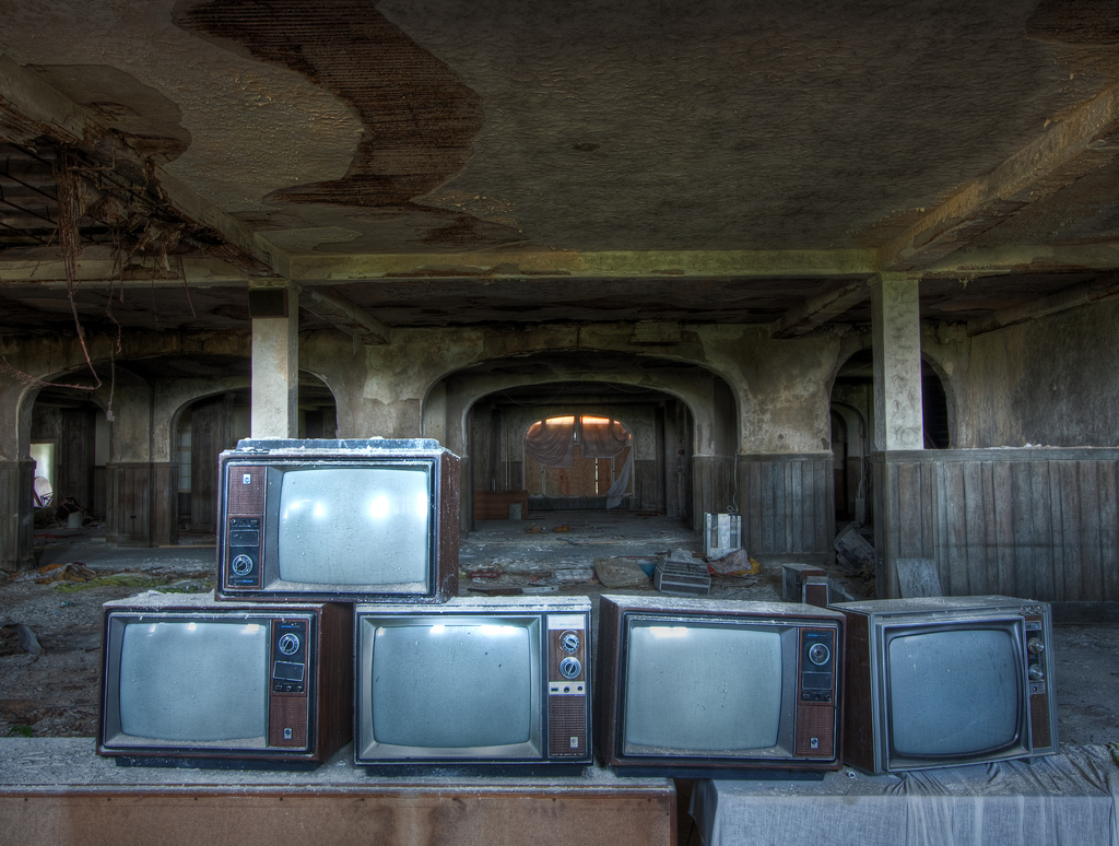 Televisions in South Exchange Room by TunnelBug, on Flickr