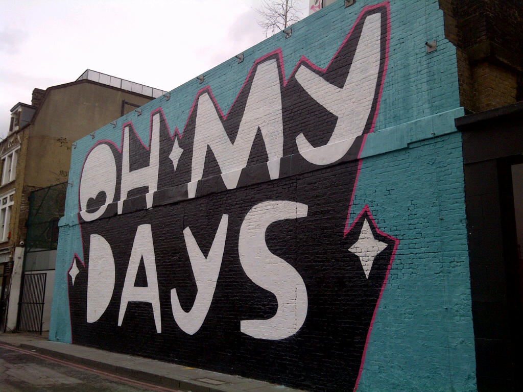 Kid Acne 'OH MY DAYS' mural, part of @St by bablu121, on Flickr