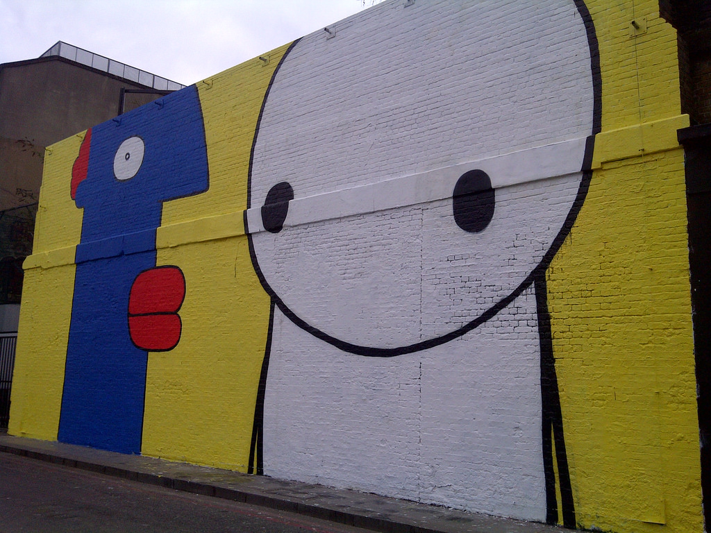 Thierry Noir and Stik wall mural on Vill by bablu121, on Flickr