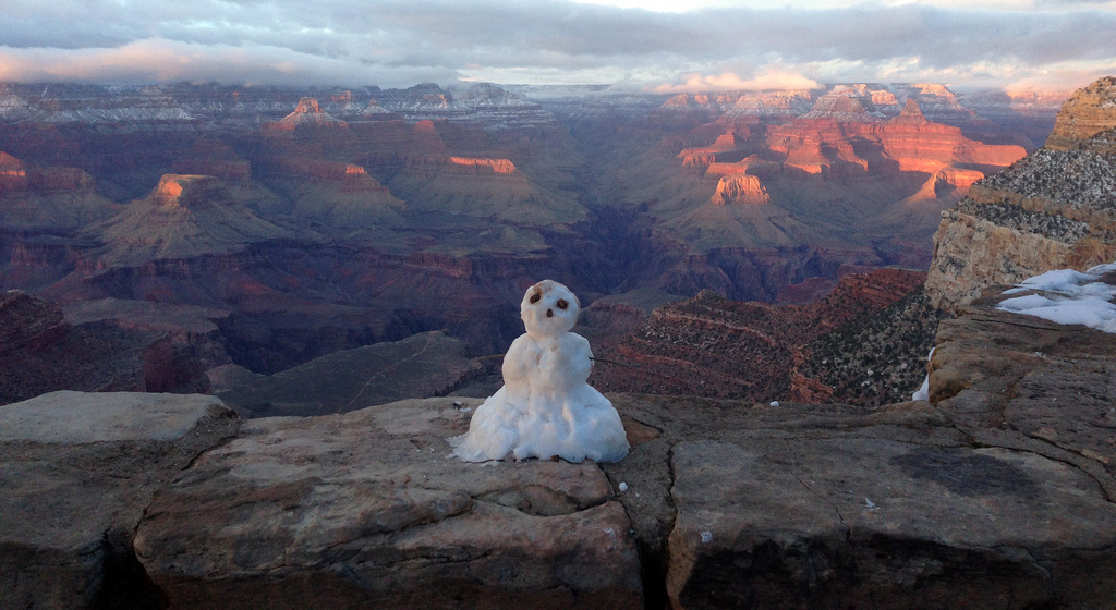 Grand Canyon National Park: Last Snowman by Grand Canyon NPS, on Flickr
