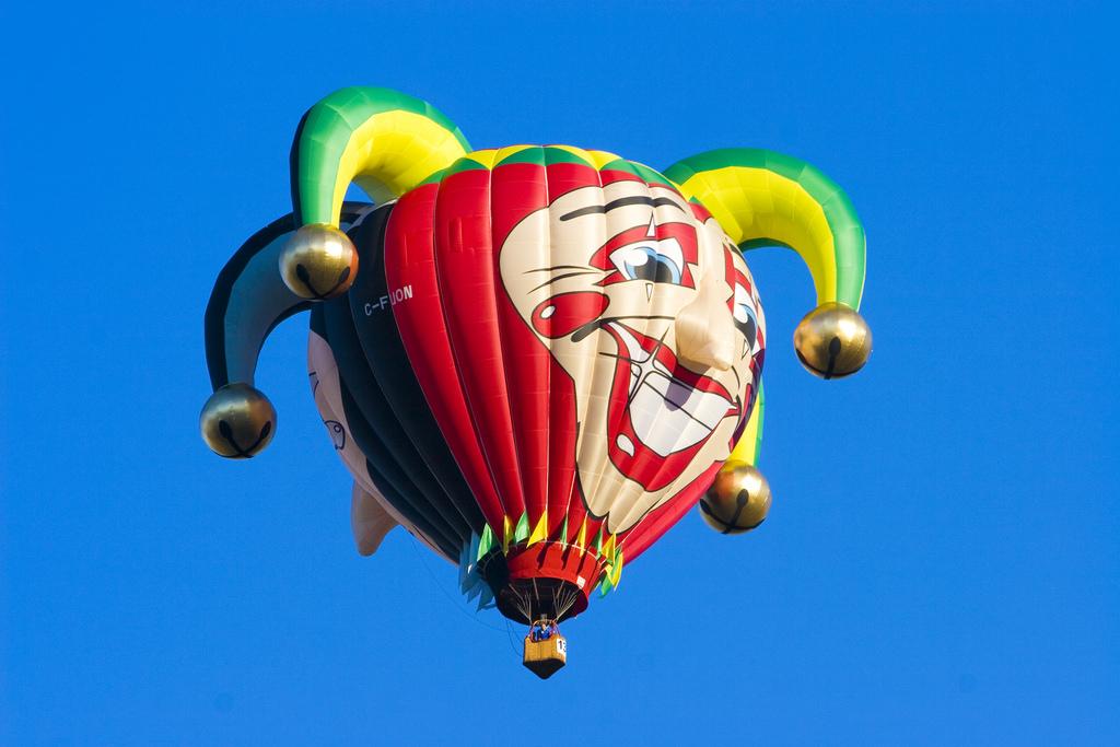 Joker face hot air balloon by Michel_Rathwell, on Flickr