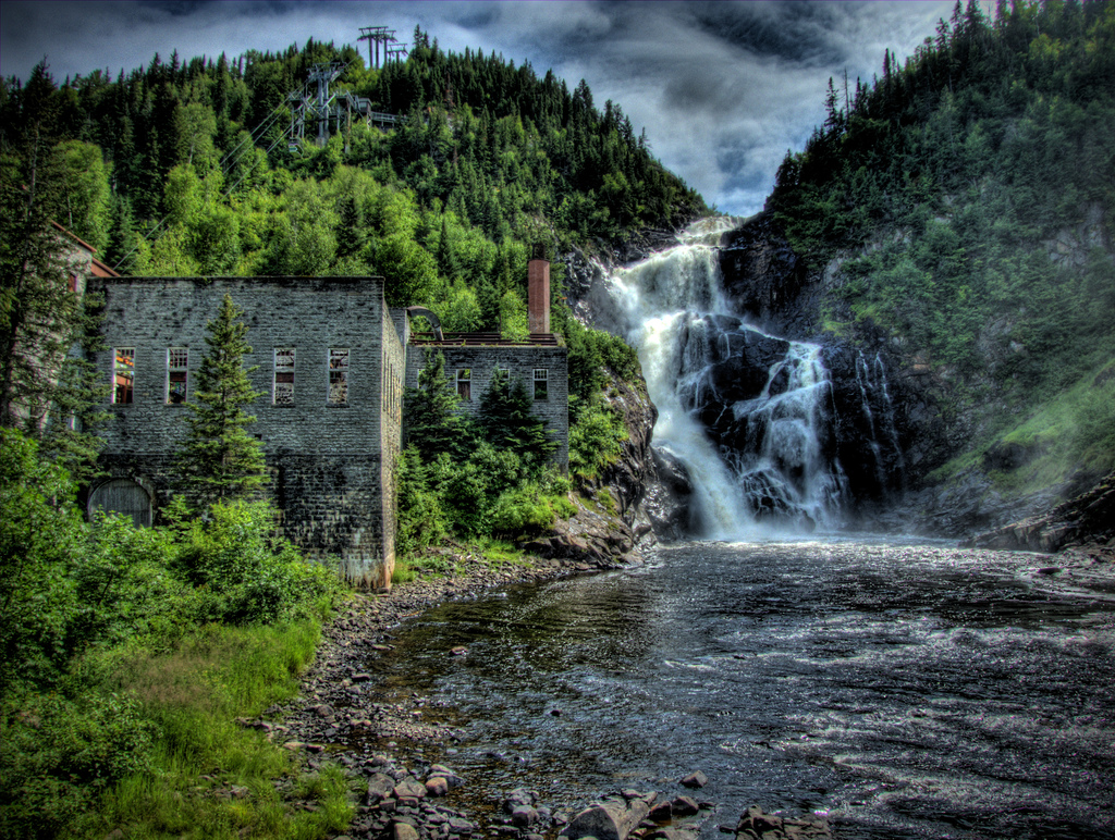 Old pulp mill and the Ouiatchouan Falls by Michel Filion, on Flickr