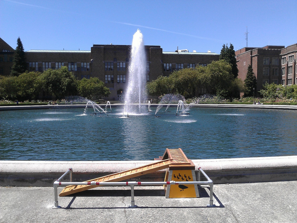 UW Drumheller Fountain, all cleaned up w by Martin Criminale, on Flickr