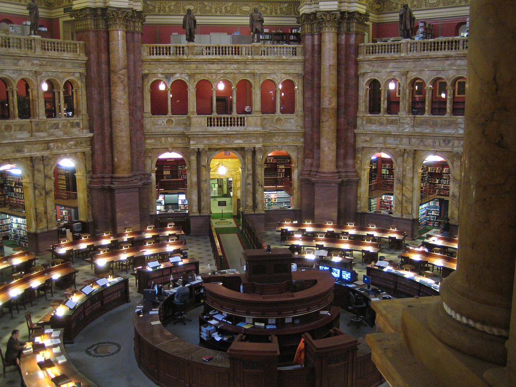 Library of Congress Reading Room 1 by maveric2003, on Flickr