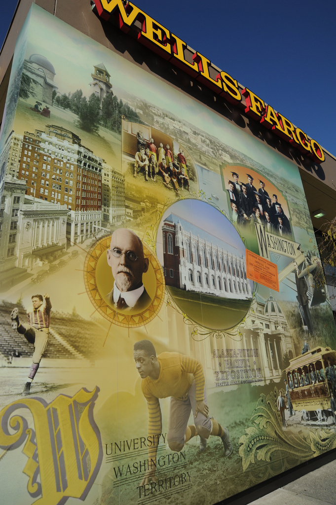 University District wall historical wall by Wonderlane, on Flickr