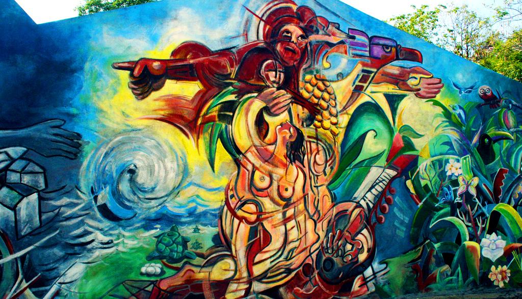 Mural en las paredes del centro del Parq by Carlos González Palomino Pintor y Muralista, on Flickr